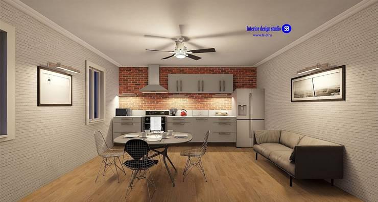Kitchen in Loft style:  Kitchen by 'Design studio S-8'