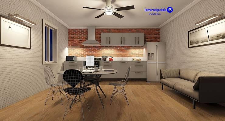 Kitchen in Loft style: industrial Kitchen by 'Design studio S-8'