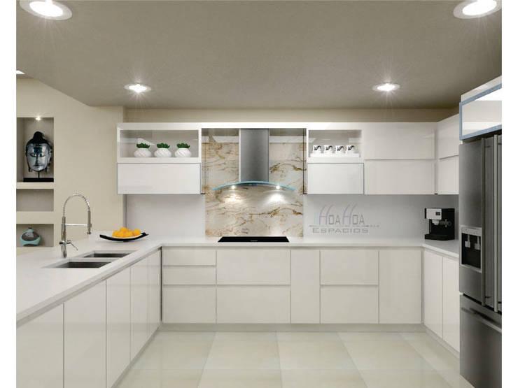 Diseño de Cocina: Cocinas de estilo  por HoaHoa Espacios SAS