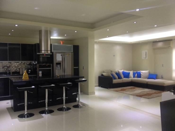 sala cocina: Salas de estilo  por HoaHoa Espacios SAS