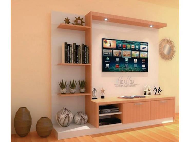 Mueble de Tv: Salones de estilo  por HoaHoa Espacios SAS