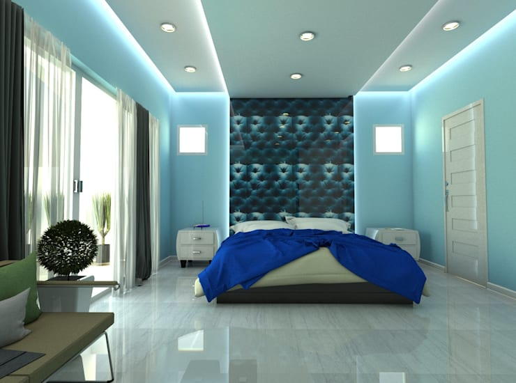 Blue Room :  Bedroom by Constantin Design & Build