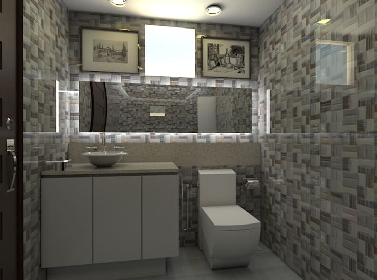 Casa Alexandria Bathroom 1 :  Bathroom by Constantin Design & Build