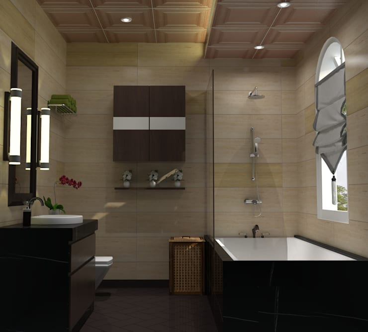 Chateau de Boudreault Guest Bathroom : mediterranean Bathroom by Constantin Design & Build