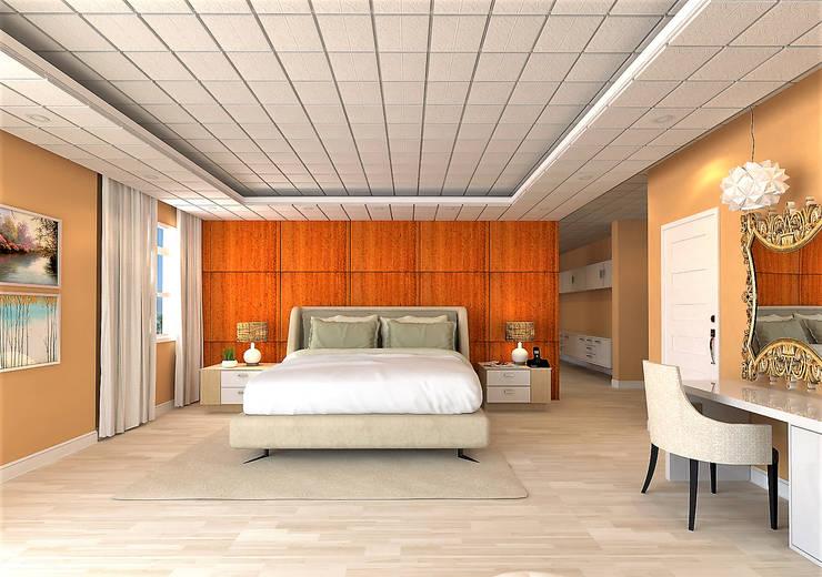 Chateau de Boudreault Master's Bedroom 1 : mediterranean Bedroom by Constantin Design & Build