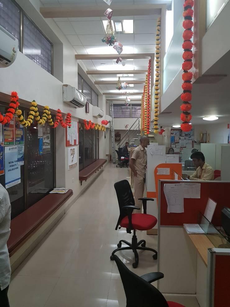 bank interiors:  Office buildings by Nova Interiors,Modern