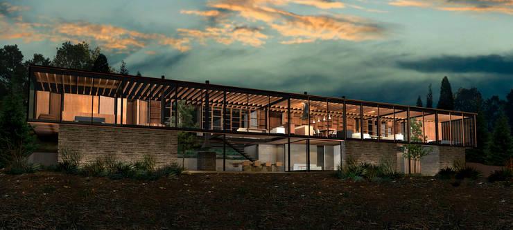 Casa Matanzas: Casas de estilo  por Nicolas Loi + Arquitectos Asociados