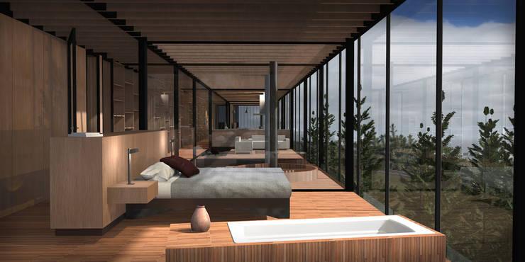 Casa Matanzas: Dormitorios de estilo  por Nicolas Loi + Arquitectos Asociados