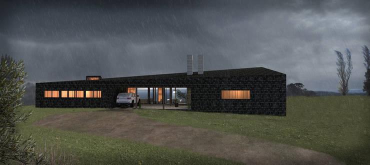 Casa Lago Ranco: Casas de estilo  por Nicolas Loi + Arquitectos Asociados