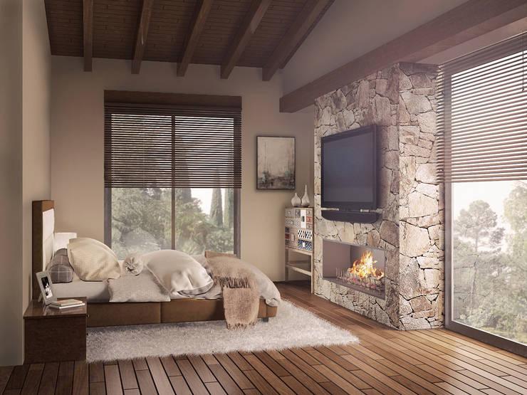 Chambre moderne par BCA Arch and Interiors Moderne