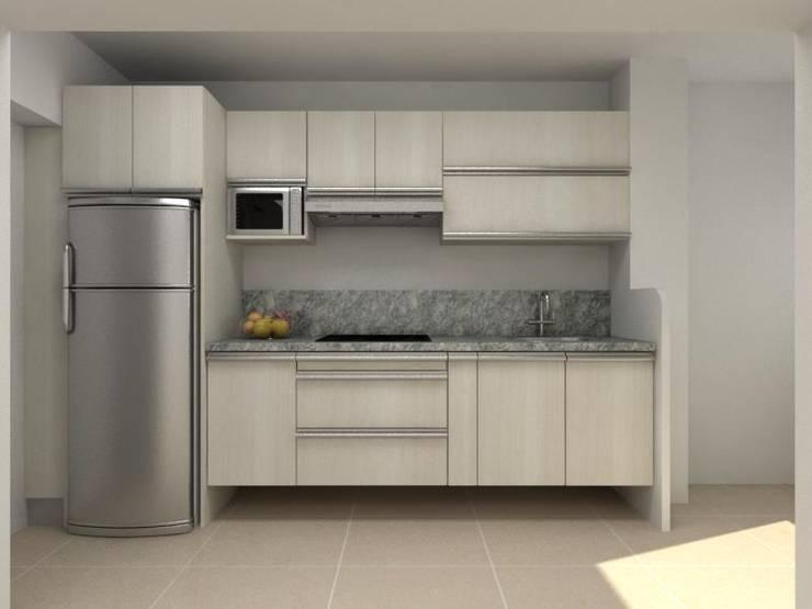 Diseño Cocina pequeña de Arq. Barbara Bolivar | homify