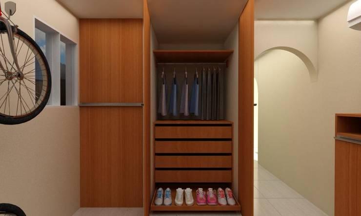 Habitacion Tipo Estudio y Closet habitacion principal: Estudio de estilo  por Arq. Barbara Bolivar