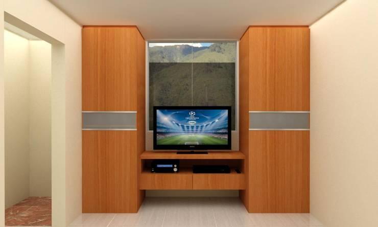 Habitacion Tipo Estudio y Closet habitacion principal: Dormitorios de estilo  por Arq. Barbara Bolivar