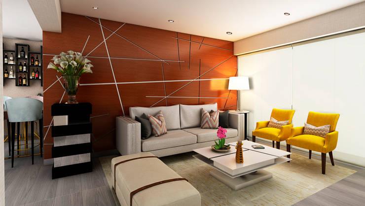 Salones de estilo  de Luis Escobar Interiorismo, Moderno