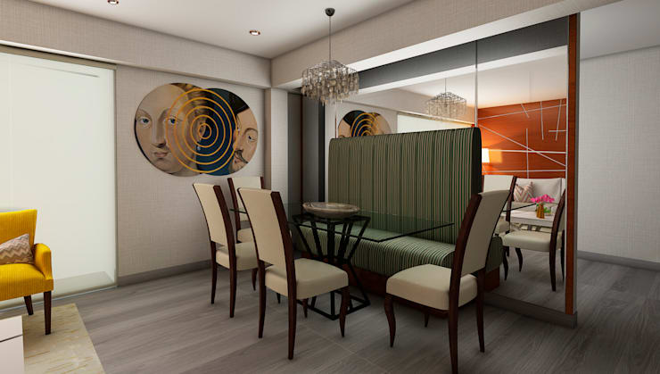 Sala da pranzo in stile  di Luis Escobar Interiorismo, Moderno