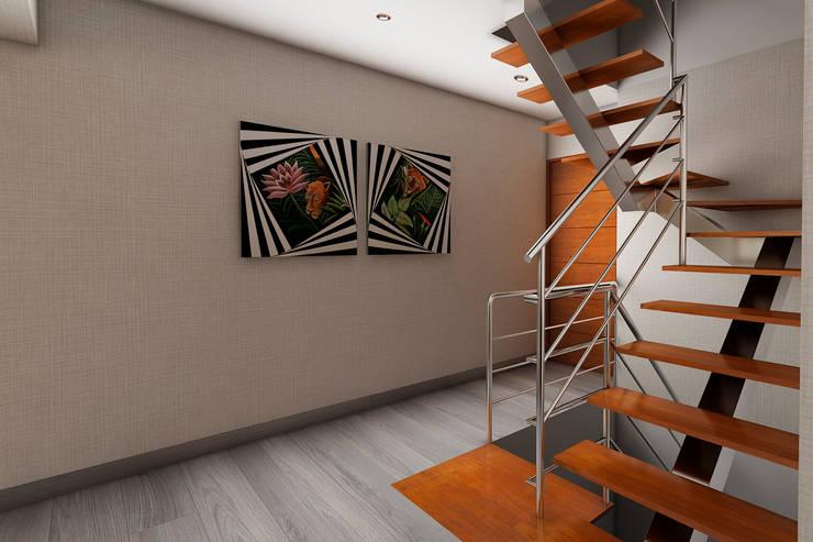 Pasillos y vestíbulos de estilo  de Luis Escobar Interiorismo, Moderno
