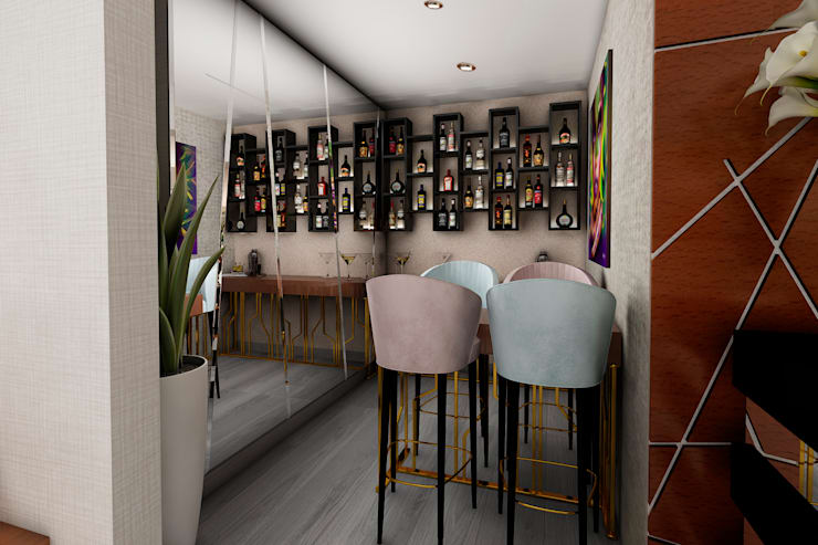 Cantina in stile  di Luis Escobar Interiorismo, Moderno