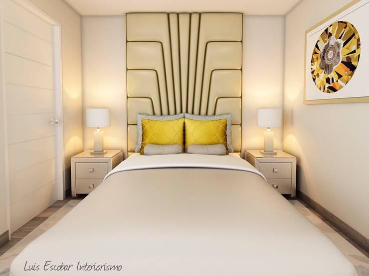 Camera da letto in stile  di Luis Escobar Interiorismo, Moderno