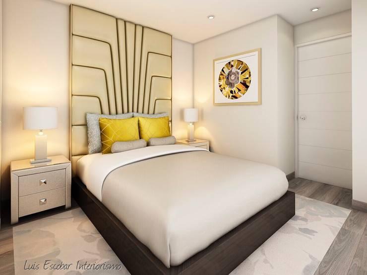 Dormitorios de estilo  de Luis Escobar Interiorismo, Moderno