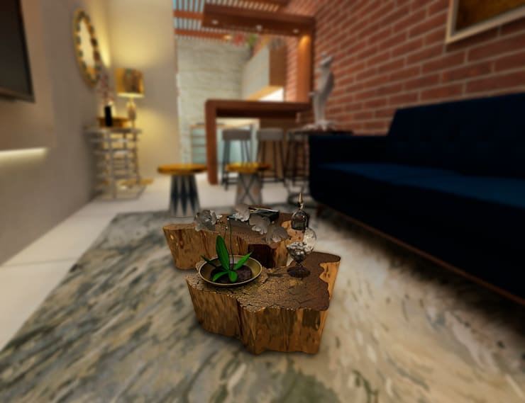 Proyecto ED: Salas / recibidores de estilo  por Luis Escobar Interiorismo