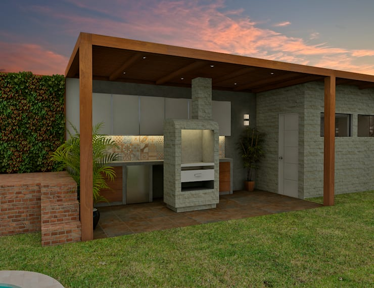 Proyecto ED: Cocinas de estilo  por Luis Escobar Interiorismo,