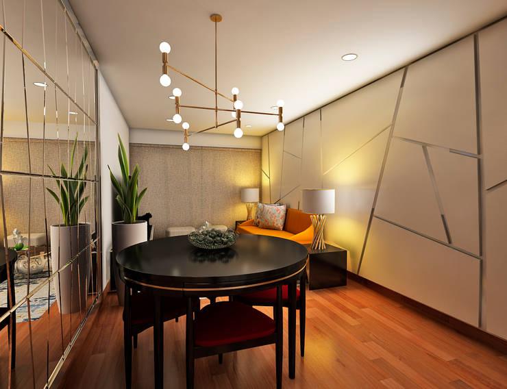 PROYECTO GA Salas modernas de Luis Escobar Interiorismo Moderno
