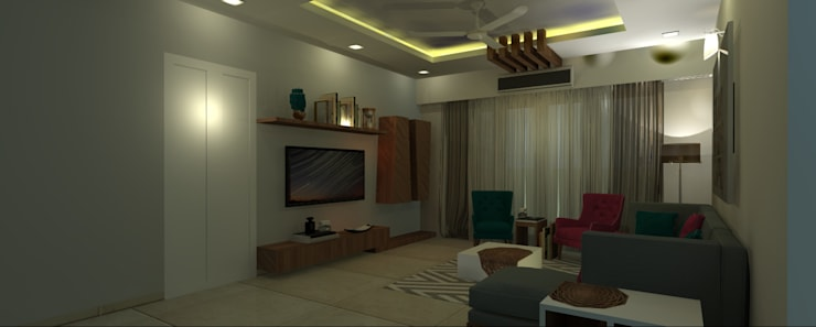 Residential:  Living room by ID MARC,Minimalist