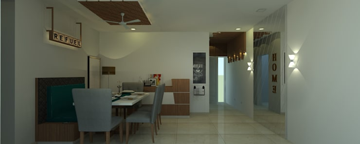 Residential:  Dining room by ID MARC,Minimalist