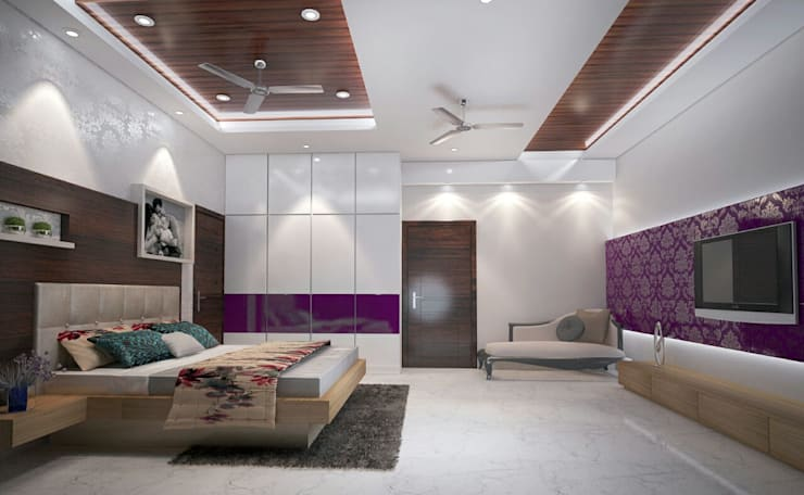 Residence-Pinjaniji: modern Bedroom by KHOWAL ARCHITECTS + PLANNERS