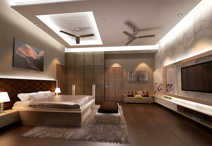 Residence-Pinjaniji:  Bedroom by KHOWAL ARCHITECTS + PLANNERS,Modern