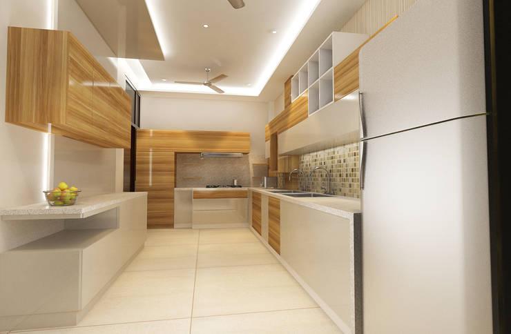Residence-Pinjaniji:  Kitchen by KHOWAL ARCHITECTS + PLANNERS