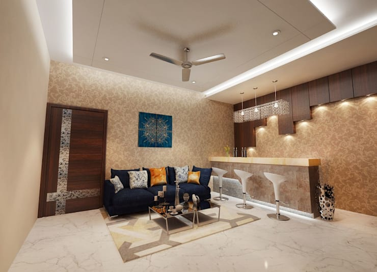 Residence-Pinjaniji: modern Living room by KHOWAL ARCHITECTS + PLANNERS