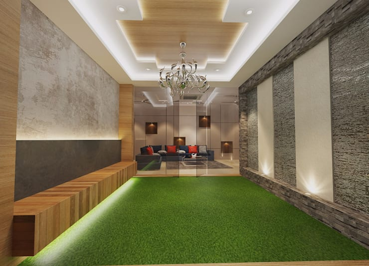 Residence-Pinjaniji:  Terrace by KHOWAL ARCHITECTS + PLANNERS