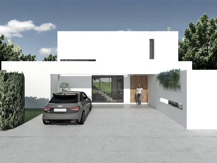 ★CASA PP - VILLA DEL PLATA - LA PLATA★ (En Obra): Casas de estilo  por SBG Estudio ,