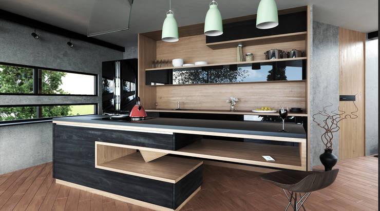 Cocina moderna de Adrede Diseño Moderno Madera Acabado en madera
