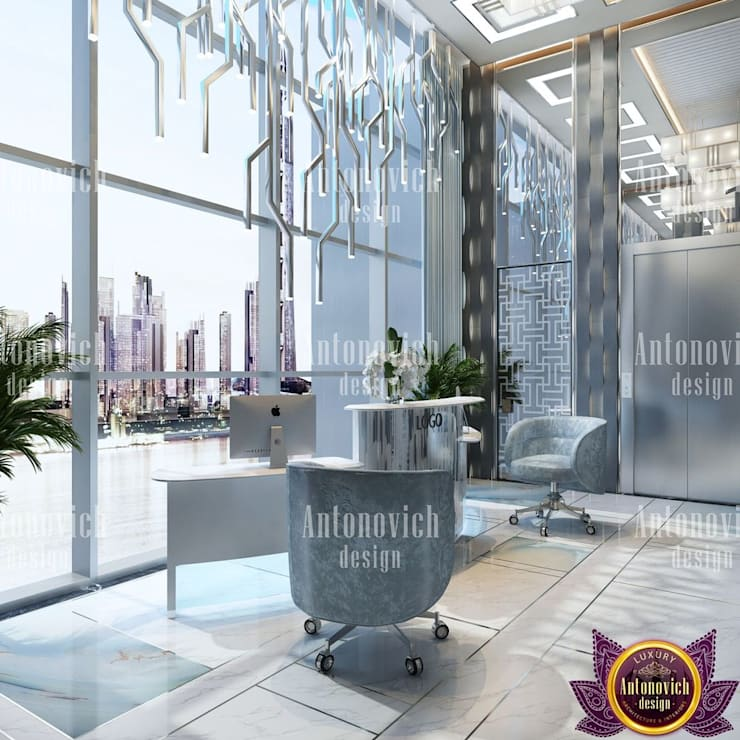​Office design concepts from Katrina Antonovich:  Study/office by Luxury Antonovich Design,