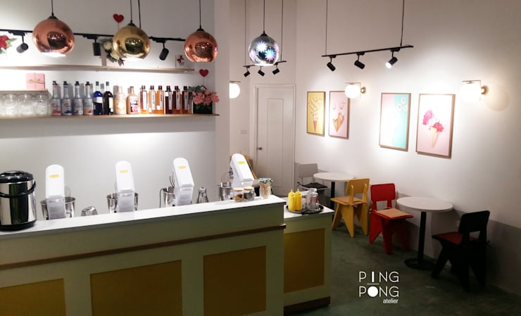 T.O.P ice cream & Tea:  Cầu thang by PingPong Atelier Furniture