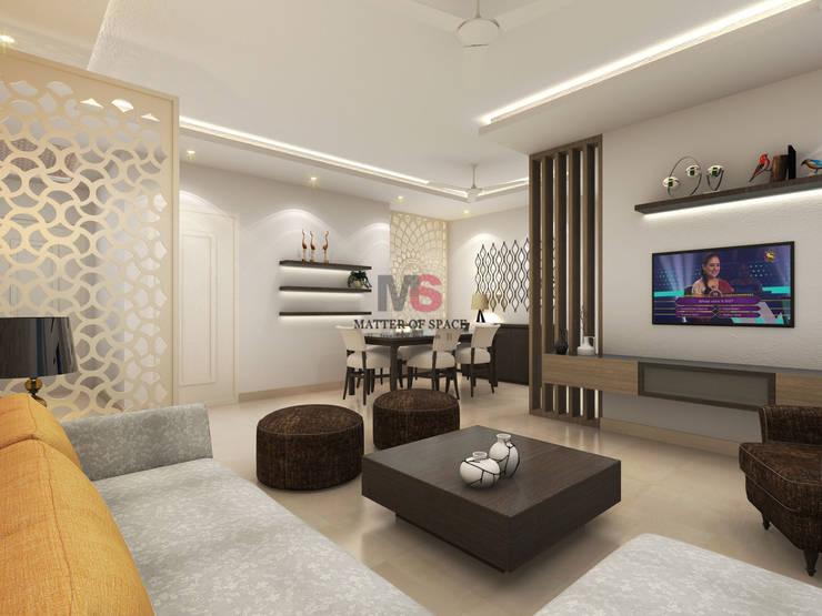 Bhiwadi:  Living room by Matter Of Space Pvt. Ltd.,Modern