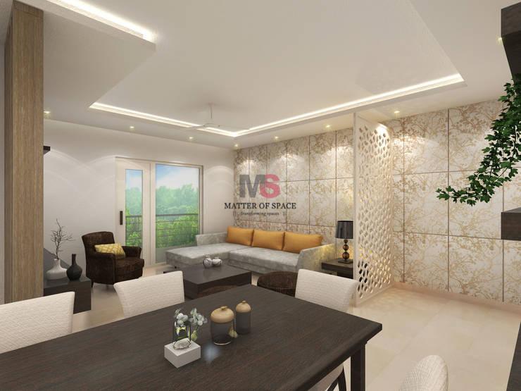 Bhiwadi: modern Living room by Matter Of Space Pvt. Ltd.