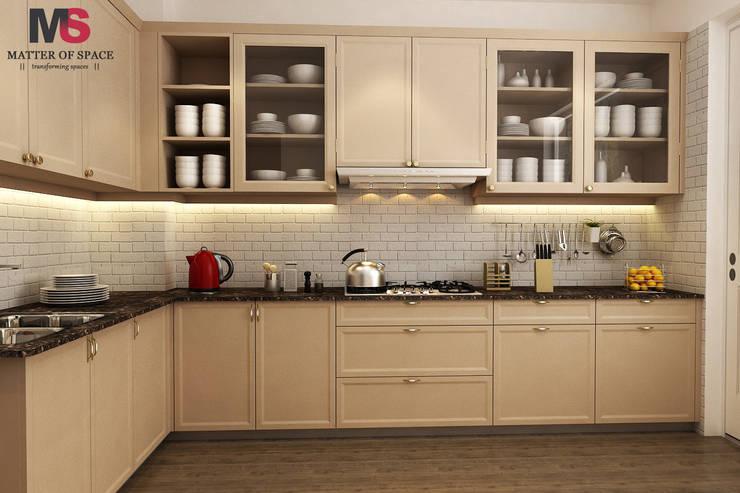 Gurgaon one:  Kitchen by Matter Of Space Pvt. Ltd.,Modern
