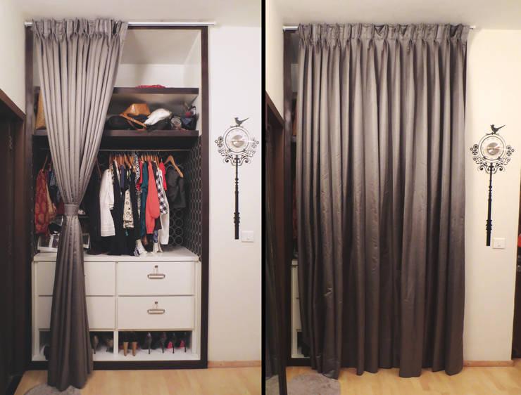 GITANJALI RESIDENCE: modern Dressing room by CARTWHEEL