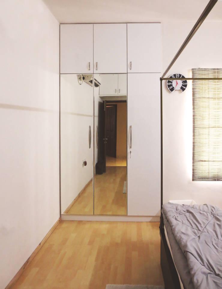 GITANJALI RESIDENCE:  Bedroom by CARTWHEEL,Modern