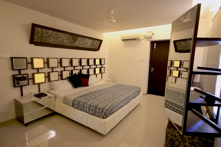 SANDEEP RESIDENCE: modern Bedroom by CARTWHEEL