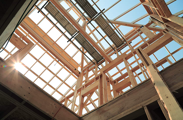 청라 패시브하우스 미아마스: OUA 오유에이의  모임 지붕