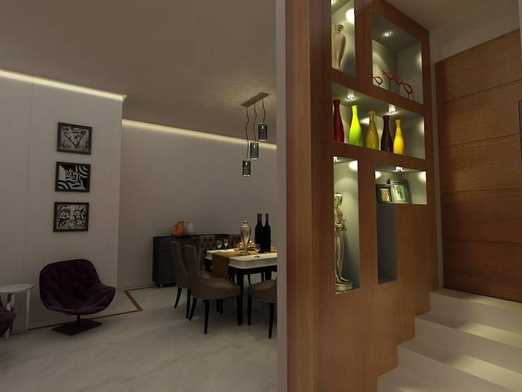 MALVIYA NAGAR RESIDENCE, NEW DELHI: eclectic Dining room by Total Interiors Solutions Pvt. ltd.