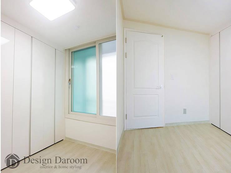 용두동 신동아 아파트 안방: Design Daroom 디자인다룸의  방,모던