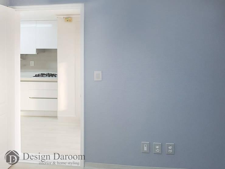 용두동 신동아 아파트 침실: Design Daroom 디자인다룸의  방,모던