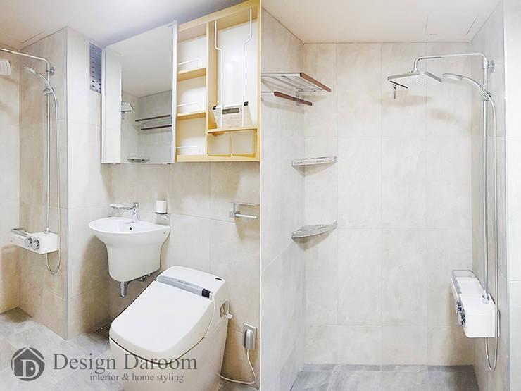 용두동 신동아 아파트 욕실: Design Daroom 디자인다룸의  욕실,모던