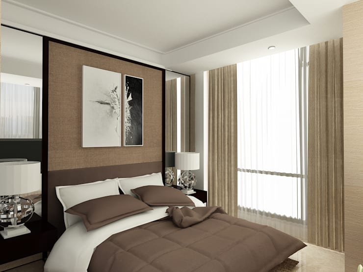MASTER BEDROOM-ASCCOT APARTMENT, KUNINGAN-JAKARTA:  Kamar Tidur by spacious.interiordnb