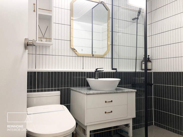 울산시 울주군 38평 인테리어: 리인홈인테리어디자인스튜디오의  욕실,